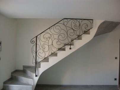 rampe comtemporaine pour int rieur de maison moderne allauch et plan de cuques fabrication. Black Bedroom Furniture Sets. Home Design Ideas