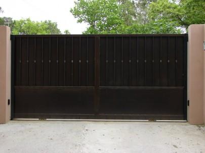 Faire un devis pour un portail contemporain droit fabrication produits dfci - Faire son portail en fer ...